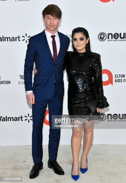 Calum Worthy attends the 28th Annual Elton John AIDS Foundation Academy Awards Viewing Party Sponsored By IMDb And Neuro Drinks on February 09, 2020...