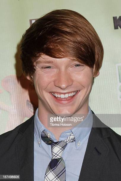 Calum Worthy attends the Delhi Safari Los Angeles premiere at Pacific Theatre at The Grove on December 3 2012 in Los Angeles California