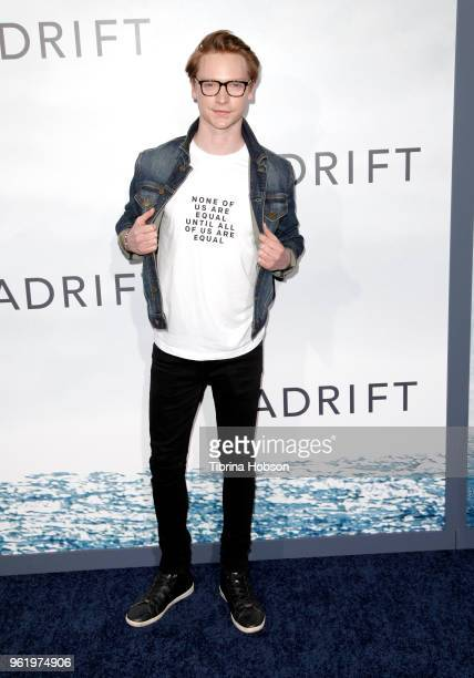 Calum Worthy attends the premiere of 'Adrift' at Regal LA Live Stadium 14 on May 23 2018 in Los Angeles California
