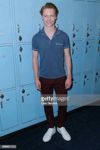 Calum Worthy attends the Screening Of A24's Eighth Grade Arrivals at Le Conte Middle School on July 11 2018 in Los Angeles California