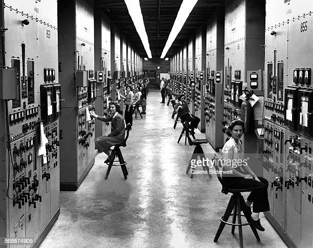 Calutron operators at their panels in the Y12 plant at Oak Ridge during World War II 1944 The calutrons were used to refine uranium ore into fissile...