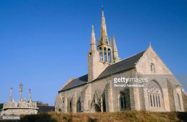Calvary of Notre Dame de Tronoen in Finistere France