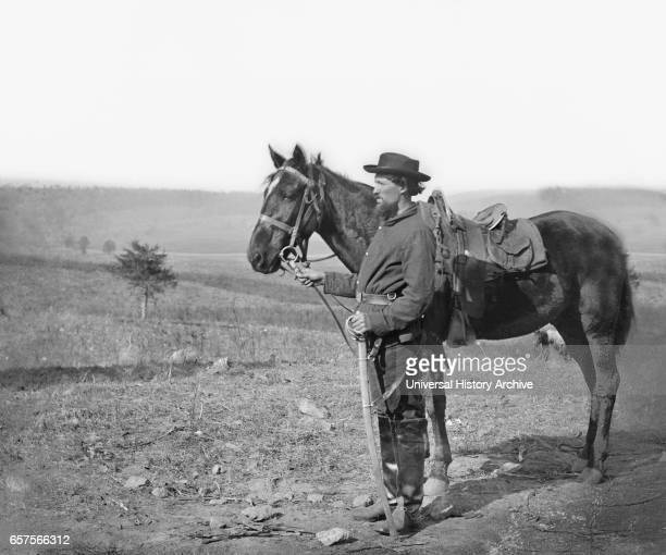 Calvary Orderly with Horse Antietam Maryland USA by Alexander Gardner October 1862