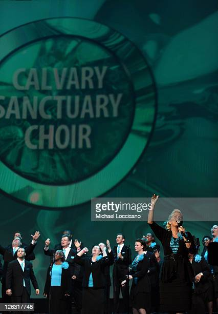 Calvary Sanctuary Choir of The Calvary Church/United Pentecostal Church International perform at Verizon's How Sweet the Sound at Joe Louis Arena on...