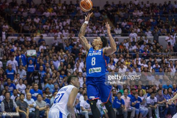 Calvin Abueva hoops a flooter against Jhen Huang Gilas Pilipinas defended their home against Chinese Taipei Game ended at 90 83