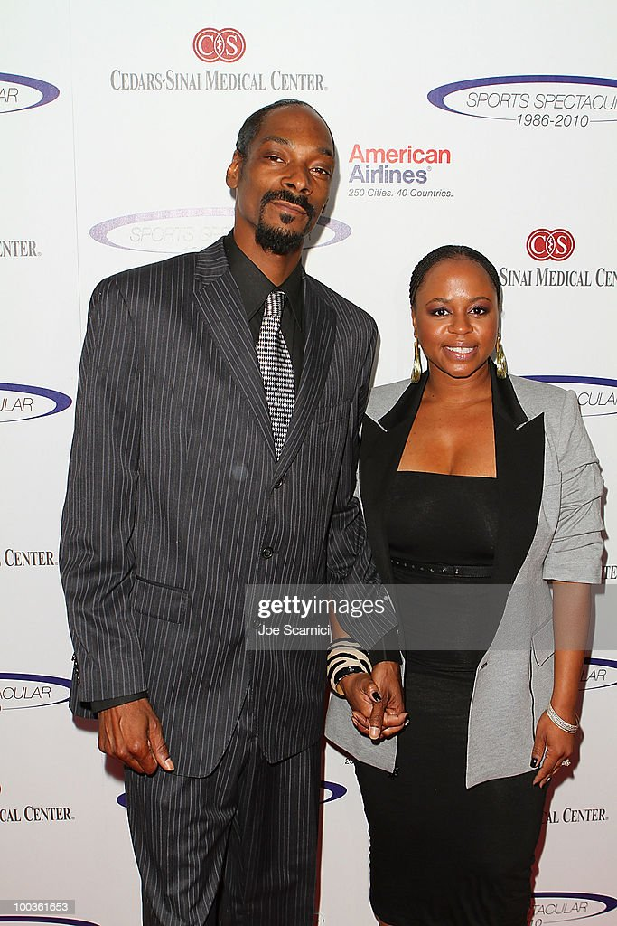 Calvin Broadus 'Snoop Dogg' and wife Shante arrive to the 25th Anniversary Of Cedars-Sinai Sports Spectacular at Hyatt Regency Century Plaza on May 23, 2010 in Century City, California.