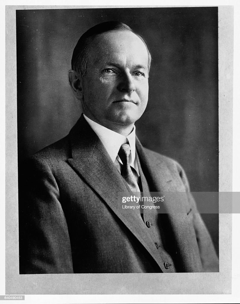 President Calvin Coolidge : News Photo