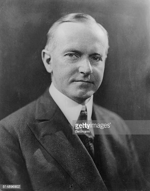 Calvin Coolidge is seen here, , the 30th President of the United States. This is a head and shoulders photograph.