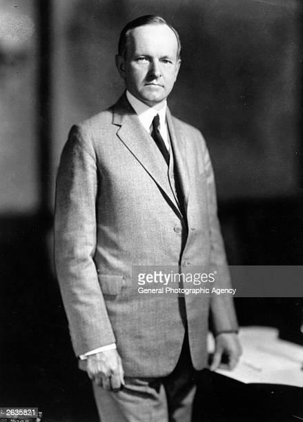 Calvin Coolidge the 30th President of the United States of America When Governor of Massachusetts in 1919 he crushed the Boston police strike Vice...