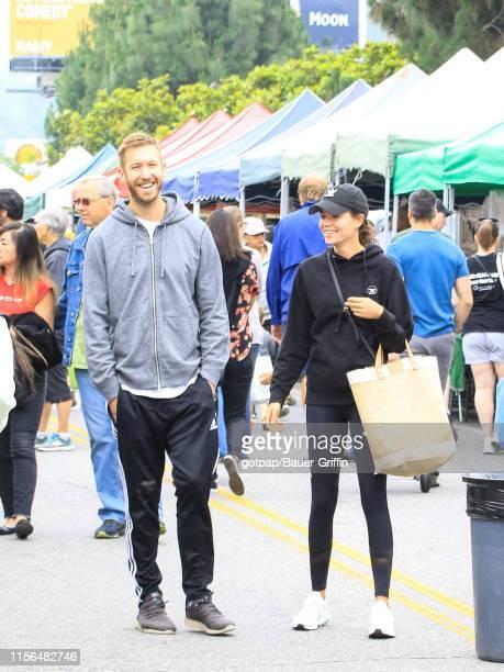 Calvin Harris and Aarika Wolf are seen on June 16 2019 in Los Angeles California