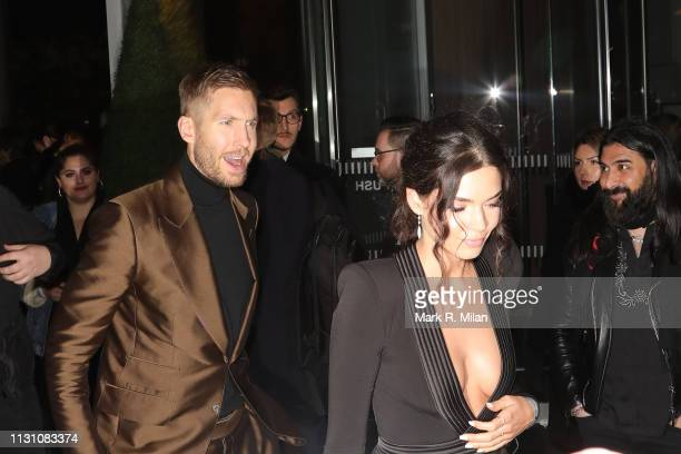 Calvin Harris and Aarika Wolf attending the Sony BRITS 2019 After Party at Aquashard on February 20 2019 in London England
