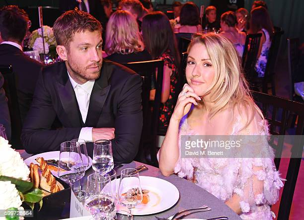 Calvin Harris and Ellie Goulding attend the GQ Men Of The Year Awards 2016 at the Tate Modern on September 6 2016 in London England