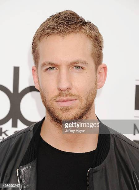 Calvin Harris arrives at the 2014 Billboard Music Awards at the MGM Grand Garden Arena on May 18 2014 in Las Vegas Nevada