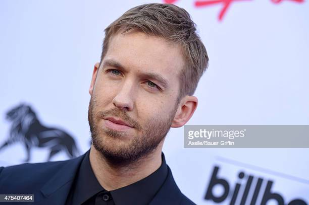 Calvin Harris arrives at the 2015 Billboard Music Awards at MGM Garden Arena on May 17 2015 in Las Vegas Nevada