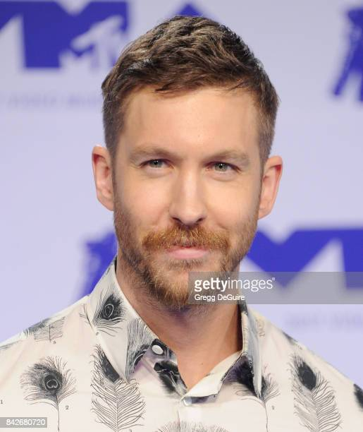 Calvin Harris arrives at the 2017 MTV Video Music Awards at The Forum on August 27 2017 in Inglewood California