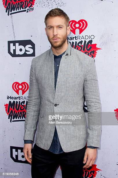 Calvin Harris arrives at the iHeartRadio Music Awards at The Forum on April 3 2016 in Inglewood California