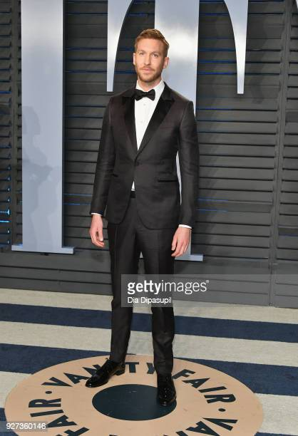 Calvin Harris attends the 2018 Vanity Fair Oscar Party hosted by Radhika Jones at Wallis Annenberg Center for the Performing Arts on March 4 2018 in...