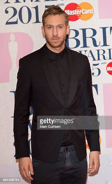 Calvin Harris attends the BRIT Awards 2015 at The O2 Arena on February 25 2015 in London England