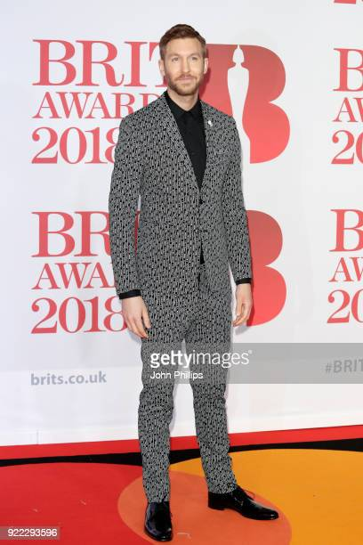 AWARDS 2018*** Calvin Harris attends The BRIT Awards 2018 held at The O2 Arena on February 21 2018 in London England