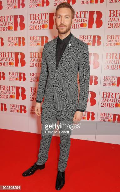 AWARDS 2018 *** Calvin Harris attends The BRIT Awards 2018 held at The O2 Arena on February 21 2018 in London England