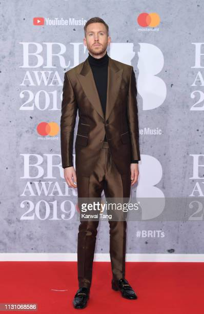 Calvin Harris attends The BRIT Awards 2019 held at The O2 Arena on February 20 2019 in London England