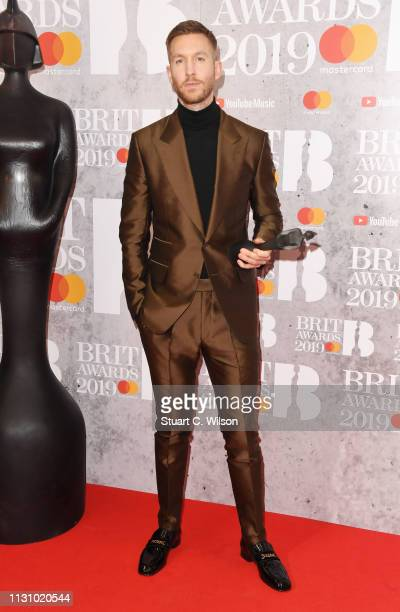 Calvin Harris in the winners room during The BRIT Awards 2019 held at The O2 Arena on February 20 2019 in London England