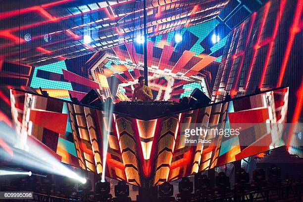 Calvin Harris performs at the Apple Music Festival at The Roundhouse on September 23 2016 in London England