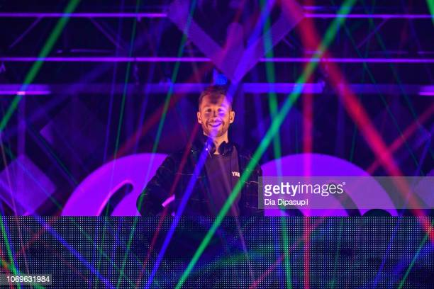 Calvin Harris performs at Z100's Jingle Ball 2018 at Madison Square Garden on December 7 2018 in New York City