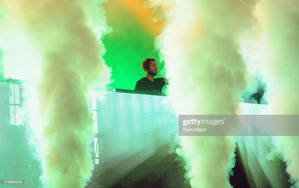 Calvin Harris performs during the 2013 Budweiser Made In America Festival at Benjamin Franklin Parkway on September 1, 2013 in Philadelphia, Pennsylvania.