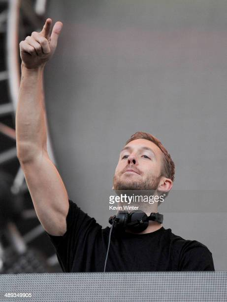 Calvin Harris performs onstage during 1027 KIIS FM's 2014 Wango Tango at StubHub Center on May 10 2014 in Los Angeles California
