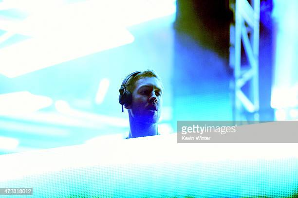 Calvin Harris performs onstage during 1027 KIIS FM's 2015 Wango Tango at StubHub Center on May 9 2015 in Los Angeles California