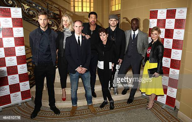 Calvin Harris Sarah Dallin David Thomas Lionel Richie Lisa Stansfield Boy George Ozwald Boateng and Emilia Fox attend a photocall to launch the...