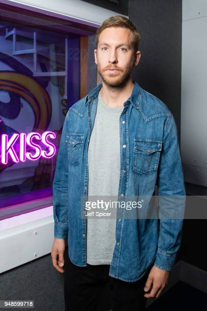 Calvin Harris visits Kiss FM Studio's on April 19 2018 in London England