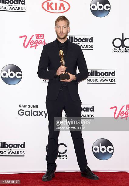 Calvin Harris winner of Top Dance/Electronic Artist poses in the press room during the 2015 Billboard Music Awards at MGM Grand Garden Arena on May...