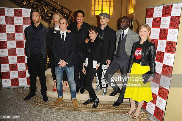 Calvin HarrisSarah DallinDavid ThomasLionel RichieLisa StandfieldBoy GeorgeOzwald Boateng and Amelia Fox attend a photocall to launch the Vanity...
