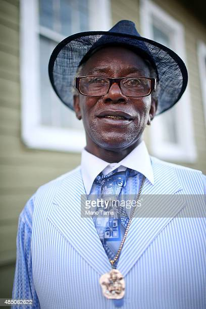 Calvin Jones poses in Central City near his home on August 23 2015 in New Orleans Louisiana Jones said he and his family were rescued from the...