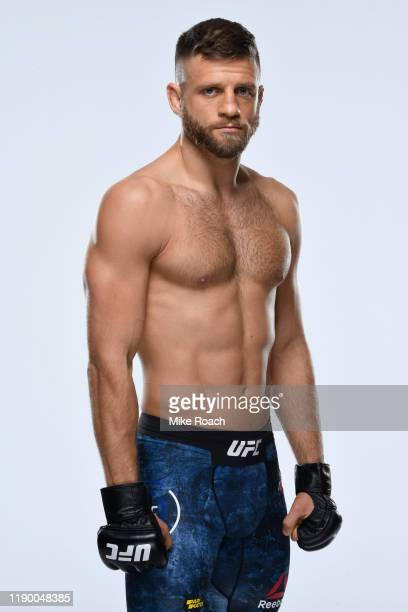 Calvin Kattar poses for a portrait during a UFC photo session on November 6 2019 in Moscow Russia
