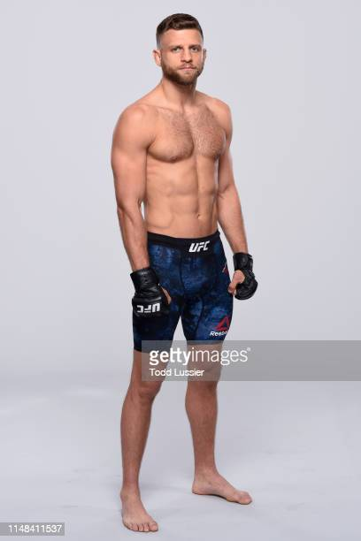 Calvin Kattar poses for a portrait during a UFC photo session on June 5 2019 in Chicago Illinois