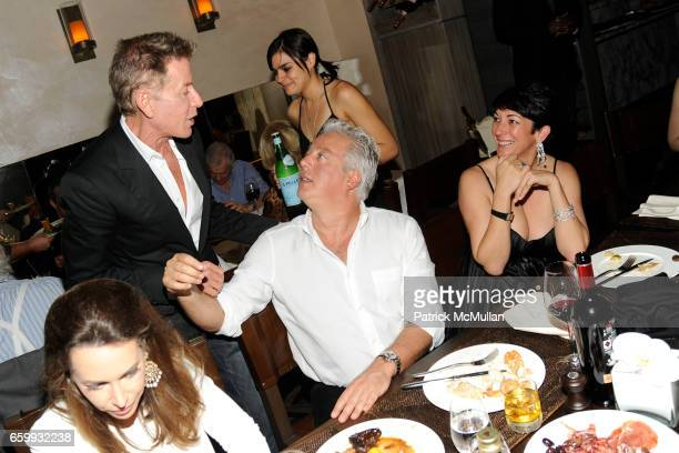 Calvin Klein Aby Rosen and Ghislaine Maxwell attend ABY ROSEN PETER BRANT ALBERTO MUGRABI Dinner at W SOUTH BEACH at W SOUTH BEACH on December 3 2009...