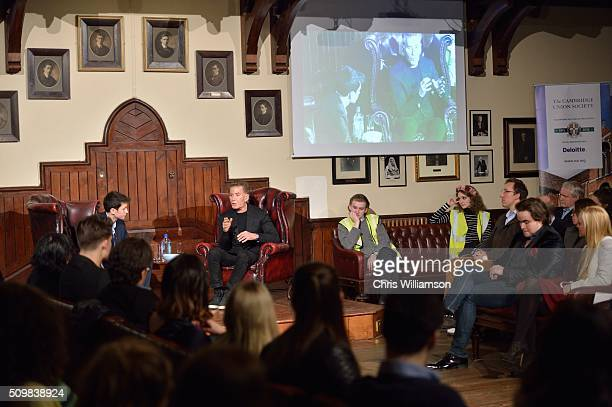 Calvin Klein addresses the Cambridge Union at The Cambridge Union on February 12 2016 in Cambridge Cambridgeshire