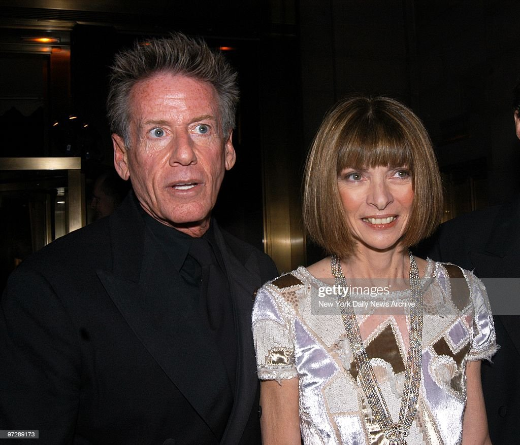 Calvin Klein and Anna Wintour are on hand at an awards dinner for the American Foundation for AIDS Research at Cipriani 42nd St. Wintour was honored at the benefit for her contributions to the global struggle against HIV