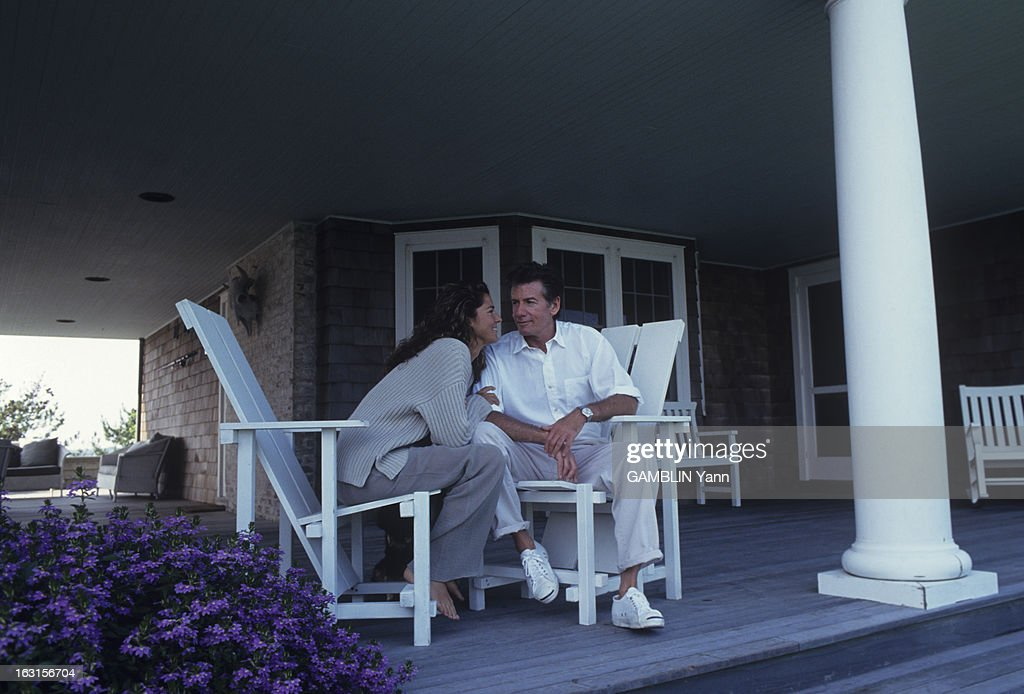 Calvin Klein And His Wife In Their House Of Long Island : Foto jornalística