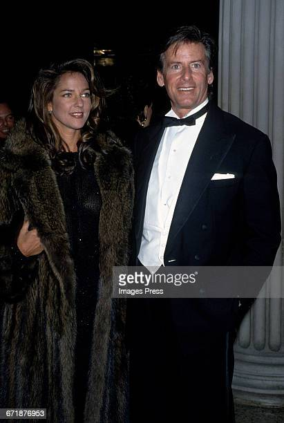 Calvin Klein and Kelly Klein attend the 1992 Metropolitan Museum of Art's Costume Institute Gala circa 1992 in New York City