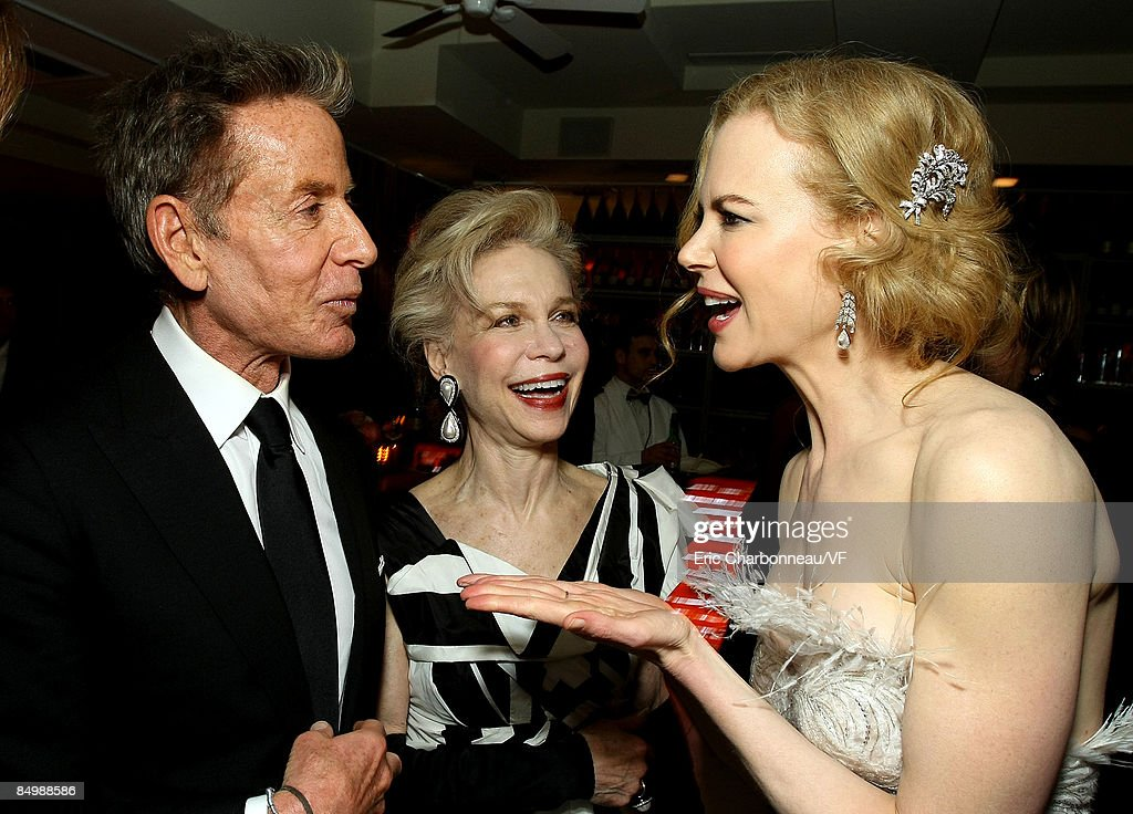 Calvin Klein and Nicole Kidman attend the 2009 Vanity Fair Oscar party hosted by Graydon Carter at the Sunset Tower Hotel on February 22, 2009 in West Hollywood, California.