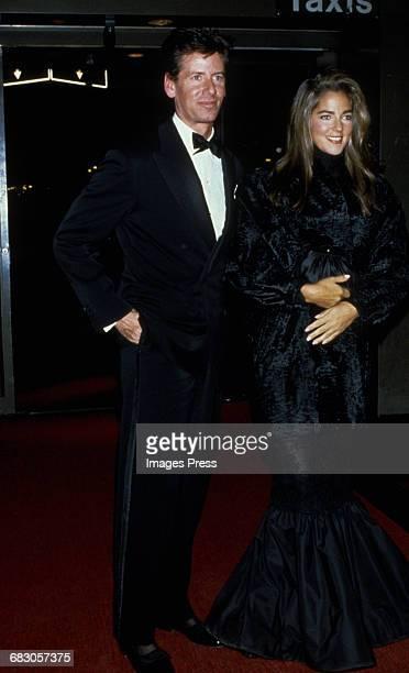 Calvin Klein and wife Kelly Klein at the Moda Italia Gala promoting Italian trade circa 1989 in New York City