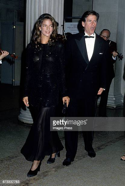 Calvin Klein and wife Kelly Klein attend the 1992 Metropolitan Museum of Art's Costume Institute Gala circa 1992 in New York City