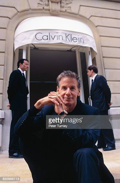 Calvin Klein at His Avenue Montaigne Boutique