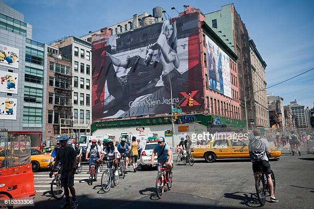 A Calvin Klein billboard in the Soho neighborhood of New York on Saturday August 14 2010 The GIII Apparel Group owner of brands such as Calvin Klein...
