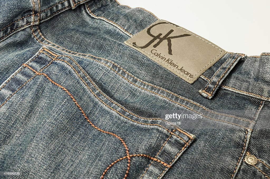 Calvin Klein Jeans Denim Trousers Closeup High Res Stock Photo Getty Images
