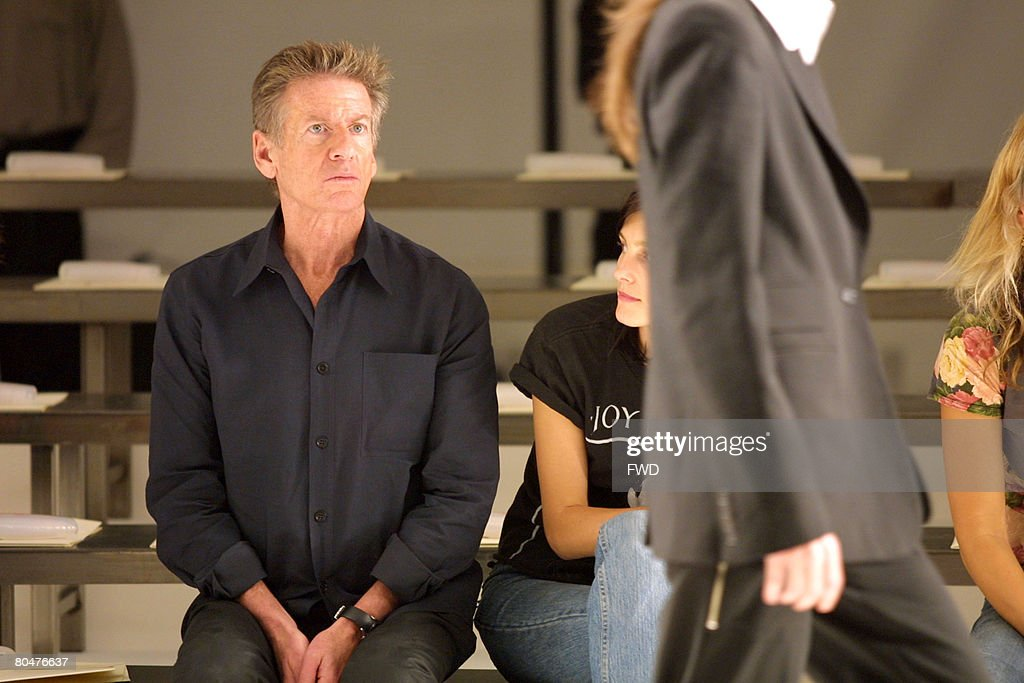 Calvin Klein supervising the last rehearsal before the presentation of his Women's Spring 2003 Collection